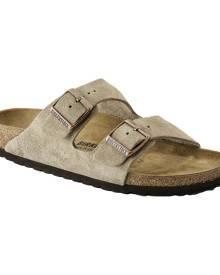 Birkenstock Arizona Suede Sandal, Size: 39 N, Taupe Suede