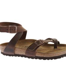 Women's Birkenstock Yara Oil Leather Toe Loop Sandal, Size: 42 R, Habana Oiled Leather