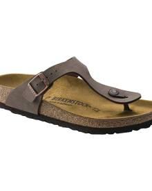 Women's Birkenstock Gizeh Birkibuc Thong Sandal, Size: 42 R, Mocha Birkibuc