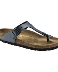 Women's Birkenstock Gizeh Birko-Flor Sandal, Size: 42 R, Onyx