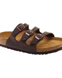 Women's Birkenstock Florida Oiled Leather With Soft Footbed, Size: 38 R, Habana Oiled Leather