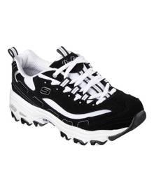 Women's Skechers D'Lites Sneaker, Size: 6.5 W, Biggest Fan/Black/White