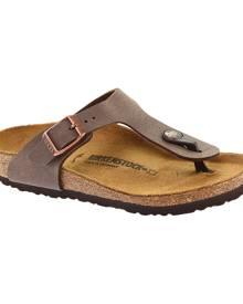 Girls' Birkenstock Gizeh Birkibuc Sandal, Size: 30 N, Mocha Birkibuc