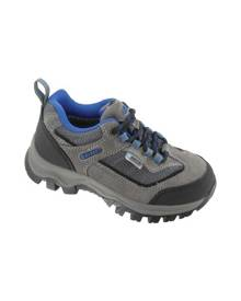 Children's Hi-Tec Hillside Low Waterproof Shoe, Size: 6 M, Charcoal/Blue/Black Suede