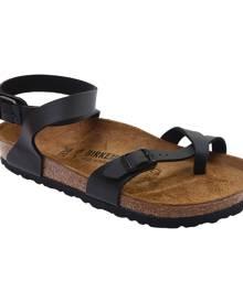 Women's Birkenstock Yara Toe Loop Sandal, Size: 38 R, Black Birko-Flor