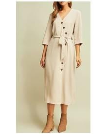 Button Midi Dress