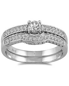 3/8 Carat TW Diamond Bridal Set in 10K White Gold