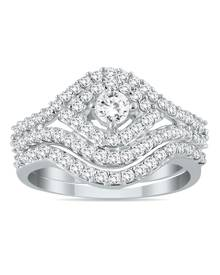7/8 Carat TW Diamond Bridal Set in 10K White Gold