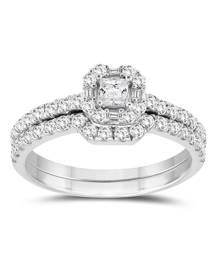7/8 Carat TW Bridal Set in 10K White Gold