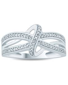 1/5 Carat TW Diamond Knot Ring in 10K White Gold