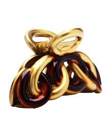 Caravan Chain Claw in Gold & Tortoise Shell