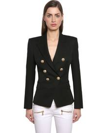 Balmain DOUBLE BREASTED WOOL TWILL JACKET
