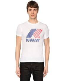 K-WAY PRINTED COTTON JERSEY T-SHIRT