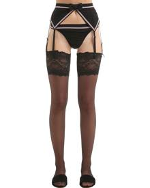 CHANTAL THOMASS Grain De Folie Tulle Garter Belt