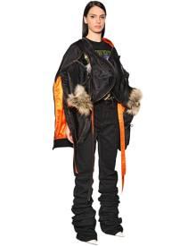 Y PROJECT Transformer Nylon Bomber Jacket