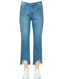 STEVE J & YONI P Boyfriend Destroyed Hem Denim Jeans