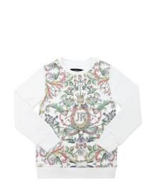 JOHN RICHMOND Floral Print Cotton Blend Sweatshirt