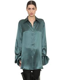 OVERSIZED SATIN SHIRT