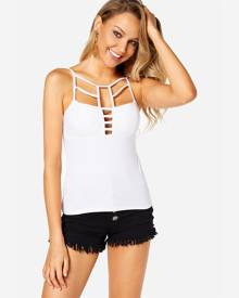Yoins White Cut Out Cami