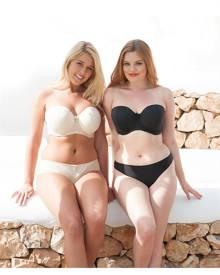 Curvy Kate Luxe Strapless Bra - Black , Size 6D