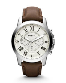 Fossil MEN Grant Chronograph Brown Leather Watch