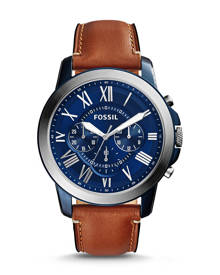 Fossil MEN Grant Chronograph Light Brown Leather Watch