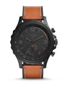 Fossil WOMEN Hybrid Smartwatch - Q Nate Dark Brown Leather
