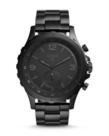 Fossil WOMEN Hybrid Smartwatch - Q Nate Black Stainless Steel