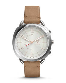 Fossil WOMEN Hybrid Smartwatch - Q Accomplice Sand Leather