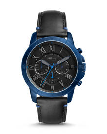 Fossil MEN Grant Sport Chronograph Black Leather Watch