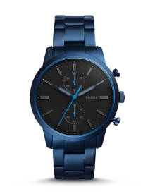 Fossil MEN Townsman 44 mm Chronograph Blue Stainless Steel Watch