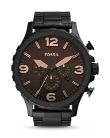 Fossil MEN Nate Chronograph Black Stainless Steel Watch