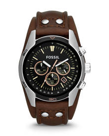 Fossil MEN Coachman Chronograph Brown Leather Watch