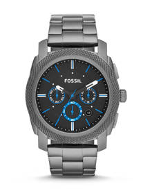 Fossil MEN Machine Chronograph Smoke Stainless Steel Watch