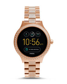 Fossil WOMEN Gen 3 Smartwatch – Q Venture Rose-Gold-Tone Stainless Steel
