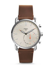 Fossil WOMEN Hybrid Smartwatch – Q Commuter Dark Brown Leather