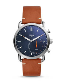 Fossil WOMEN Hybrid Smartwatch – Q Commuter Luggage Leather