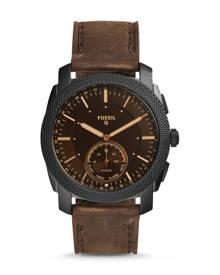 Fossil MEN Hybrid Smartwatch – Q Machine Dark Brown Leather