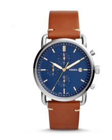 Fossil MEN The Commuter Chronograph Light Brown Leather Watch