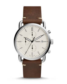 Fossil MEN The Commuter Chronograph Brown Leather Watch