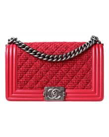 Chanel Boy Red Leather Handbag for Women