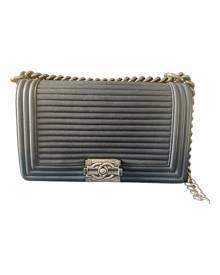 Chanel Boy Blue Leather Handbag for Women