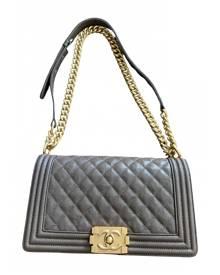 Chanel Boy Brown Leather Handbag for Women
