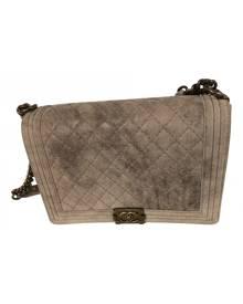 Chanel Boy Grey Leather Handbag for Women