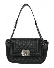 Chanel Boy Black Leather Handbag for Women