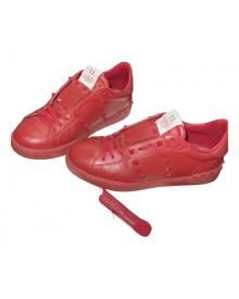 Valentino Garavani Rockstud Red Leather Trainers for Men
