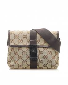 Gucci \N Brown Cloth Belt Bag for Men