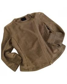 PINKO Gold Cotton Biker jacket
