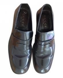 Gucci Brixton leather flats