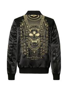 Evisu Ma-1 Bomber Jacket With Hannya Heraldry Embroidery
